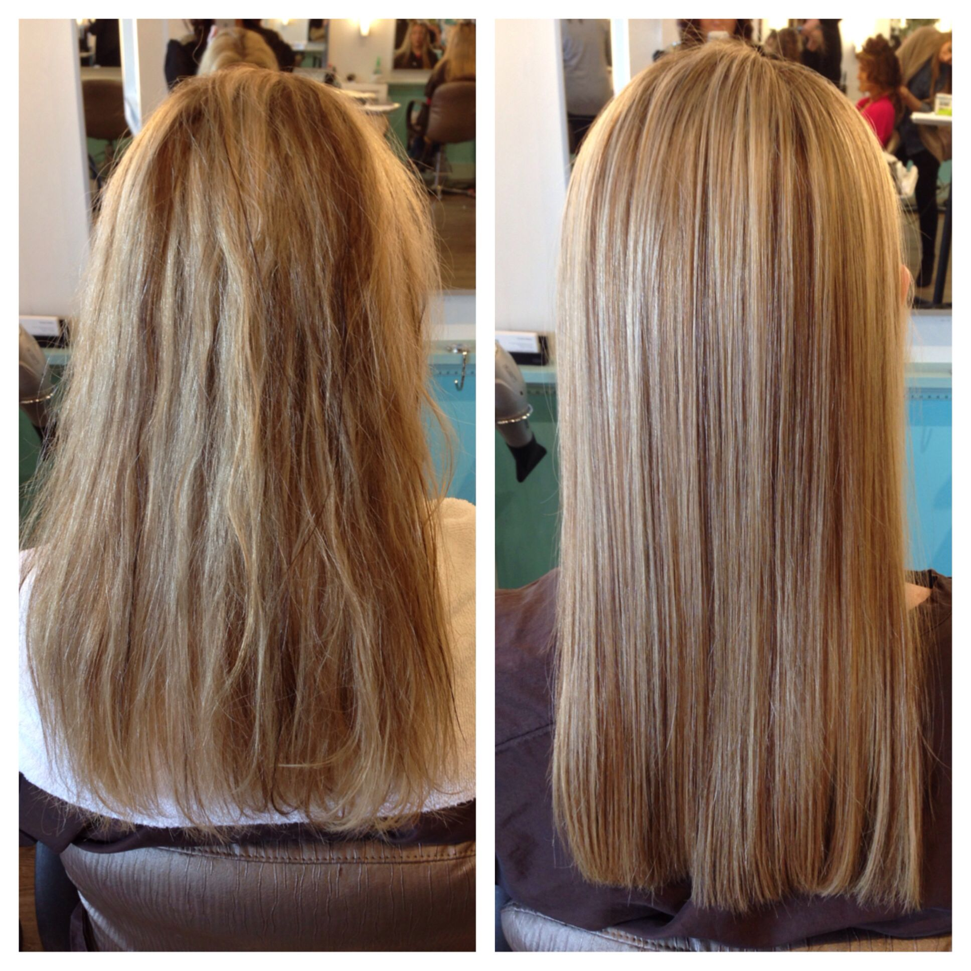 Before and after keratin smoothing treatment! Johnny