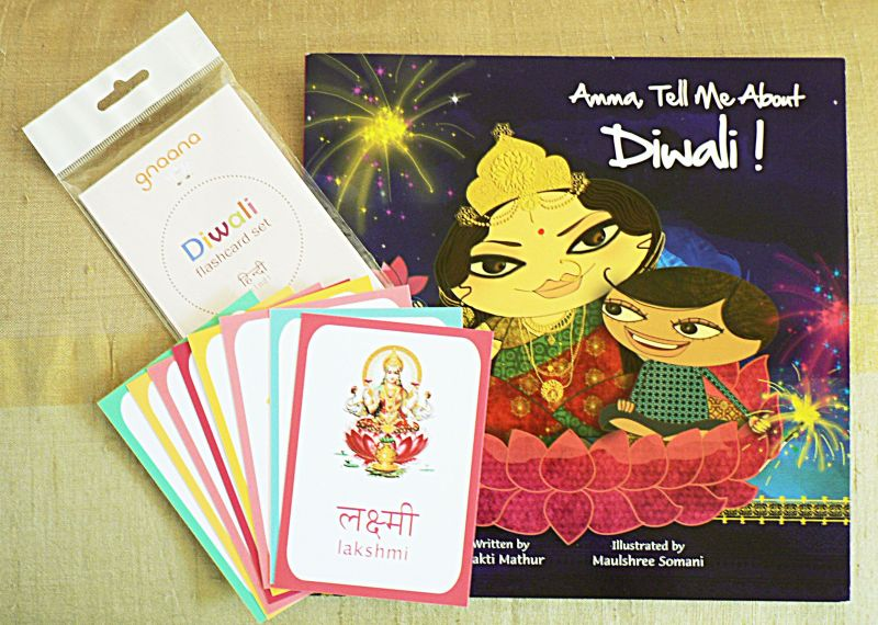 Diwali kids book and flashcard set india culture and