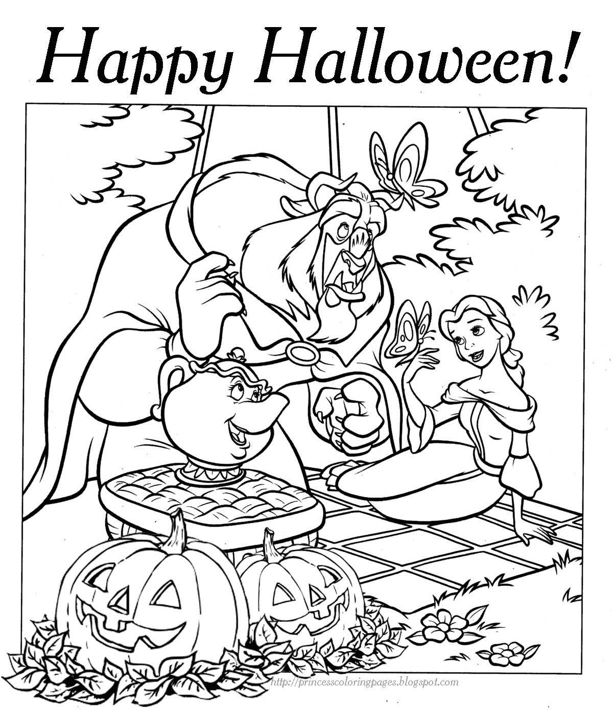 Halloween Coloring Pages HALLOWEEN COLORING PAGE
