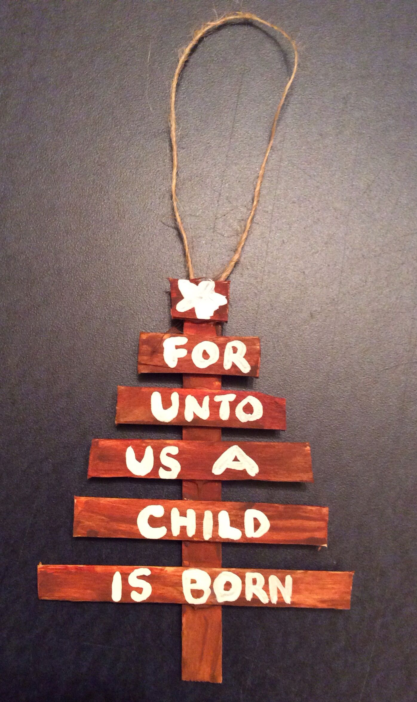 Popsicle Stick Christmas Tree Ornament Isaiah S Prophecy