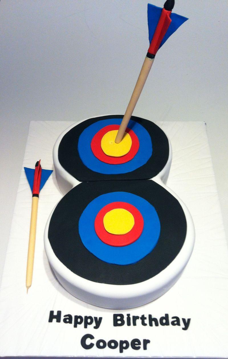 Archery target cake happy birthday cooper my cakes