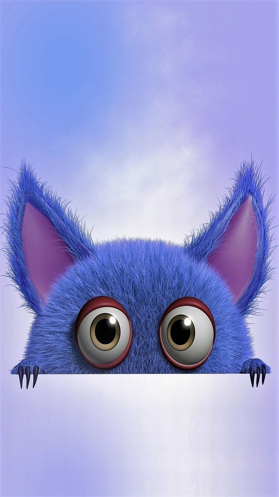 Blue monster Tap to see more cute cartoon wallpapers
