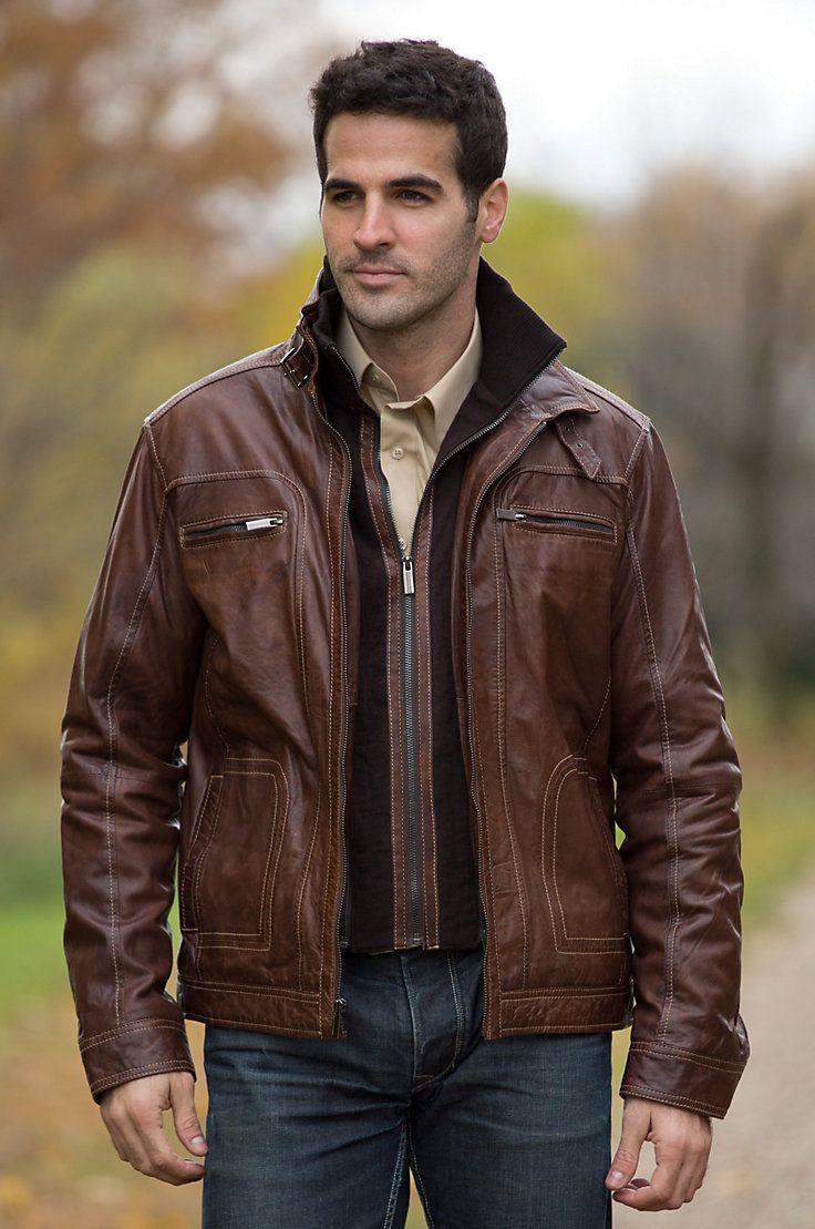 Memphis Lambskin Leather Bomber Jacket Lambskin leather