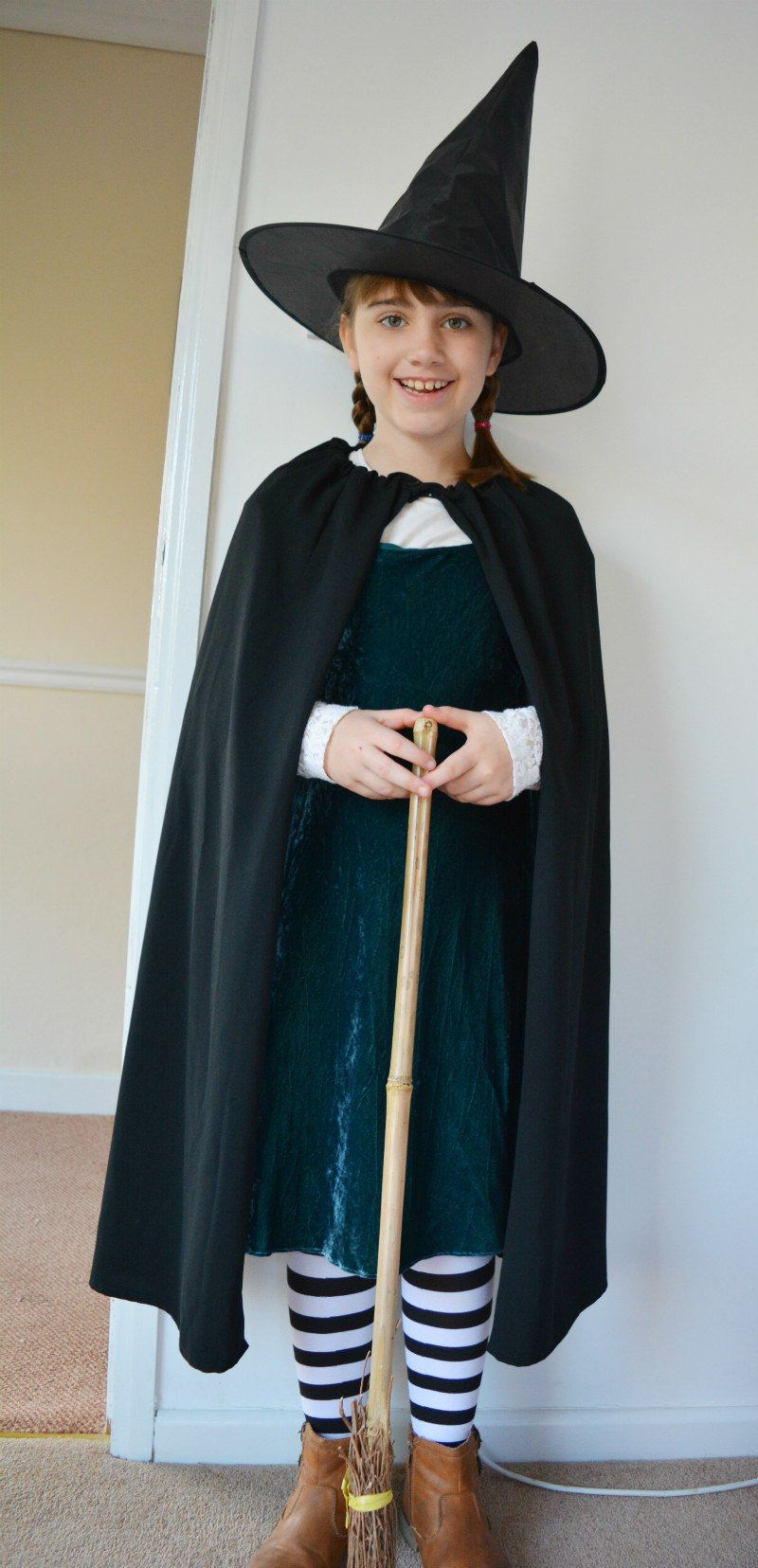 Worst Witch Costume DIY Cape Diy costumes, Witches and