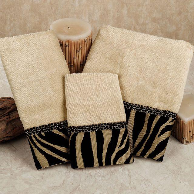 Zuma Zebra Decorative Towel Set