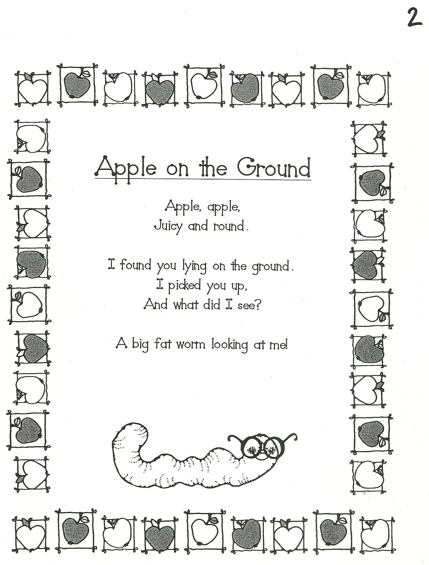 Kindergarten Poem Homeschool