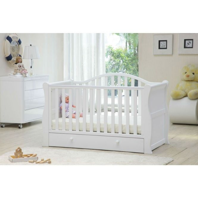Babylo Sleigh Cot Bed White