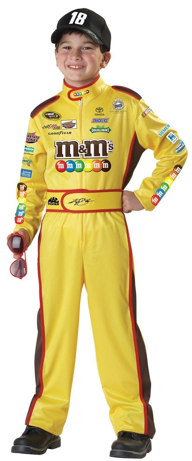 NASCAR Kyle Busch Child Costume - The Nascar Kyle Busch Child Costume includes a jumpsuit, cap ...