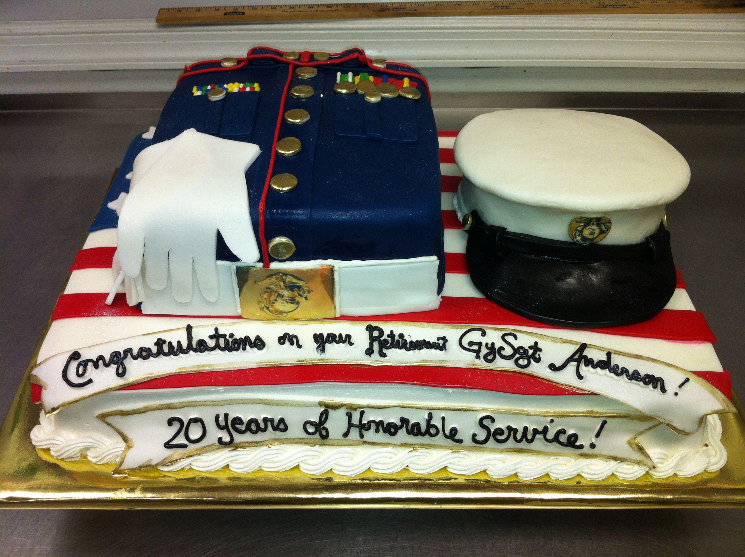 Marine Retirement Cake Cakepins