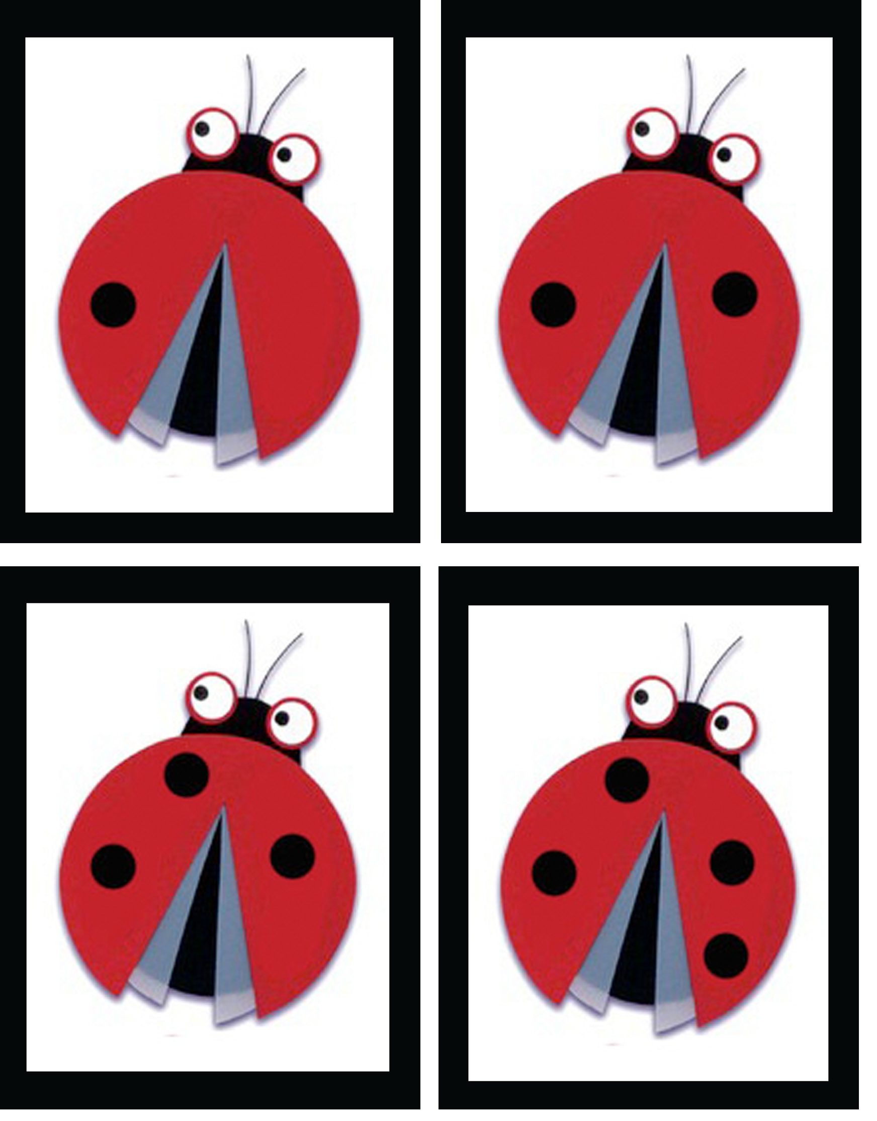 A Little Ladybug Math Match The Numeral With The