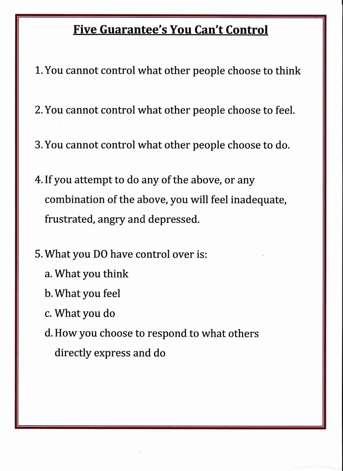 Lorinda Character Education Five Guarantee S Of Things