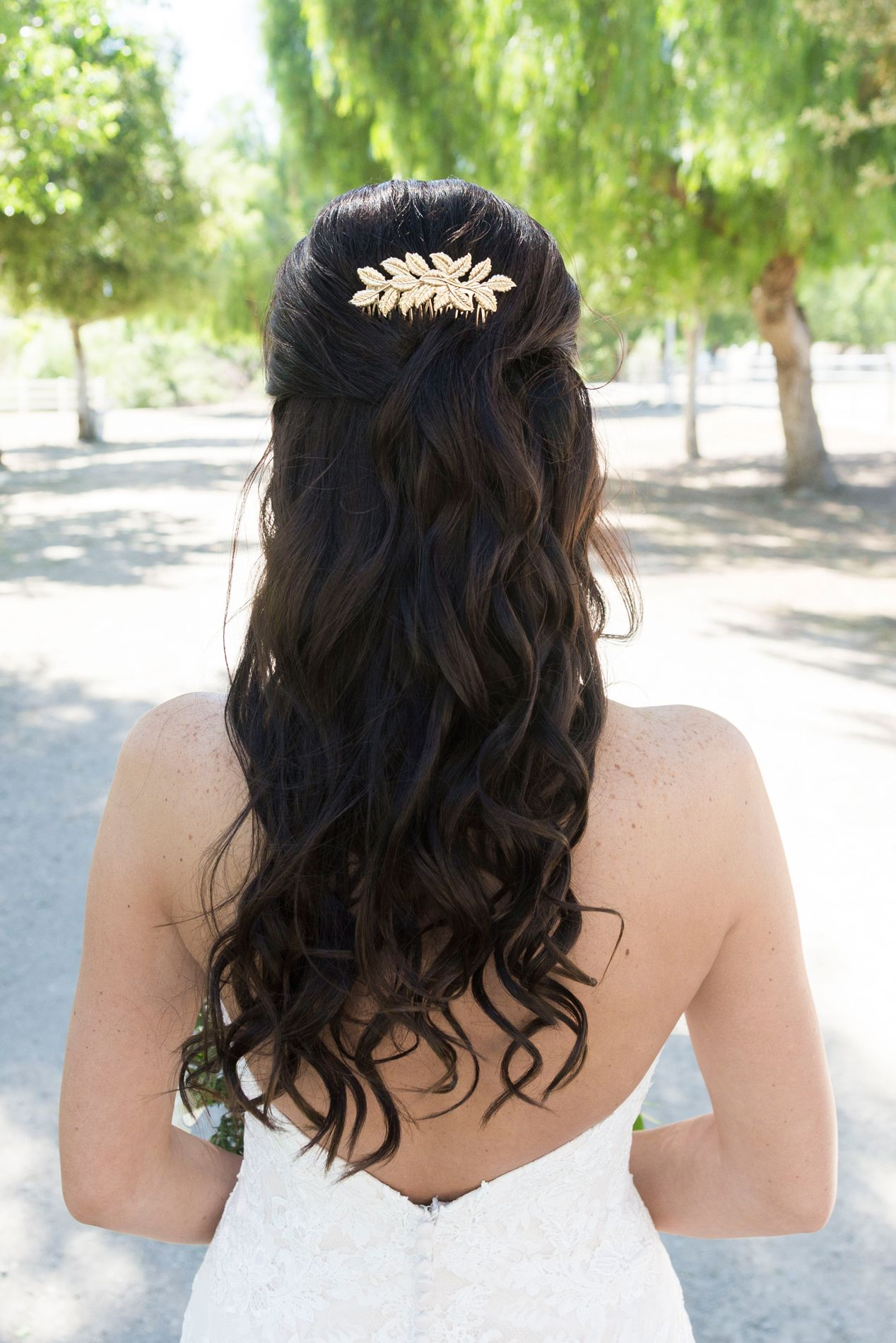 Half Up Half Down Bridal Hairstyle A McCoy Equestrian Center