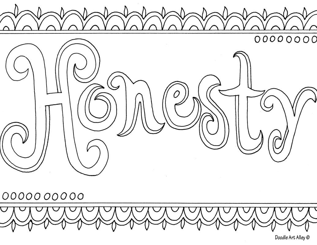 Honesty Coloring Page