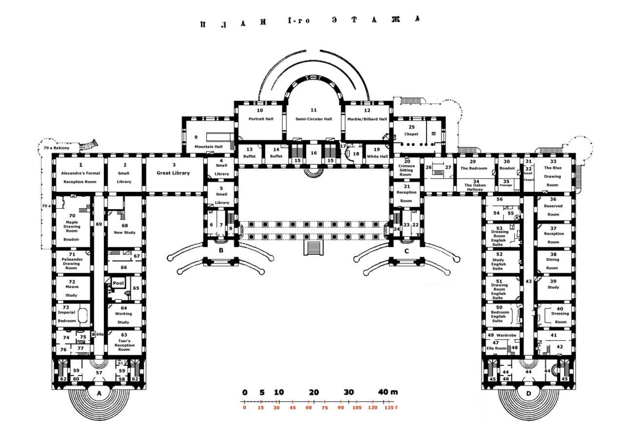 Alexander Palace First Floor Plan