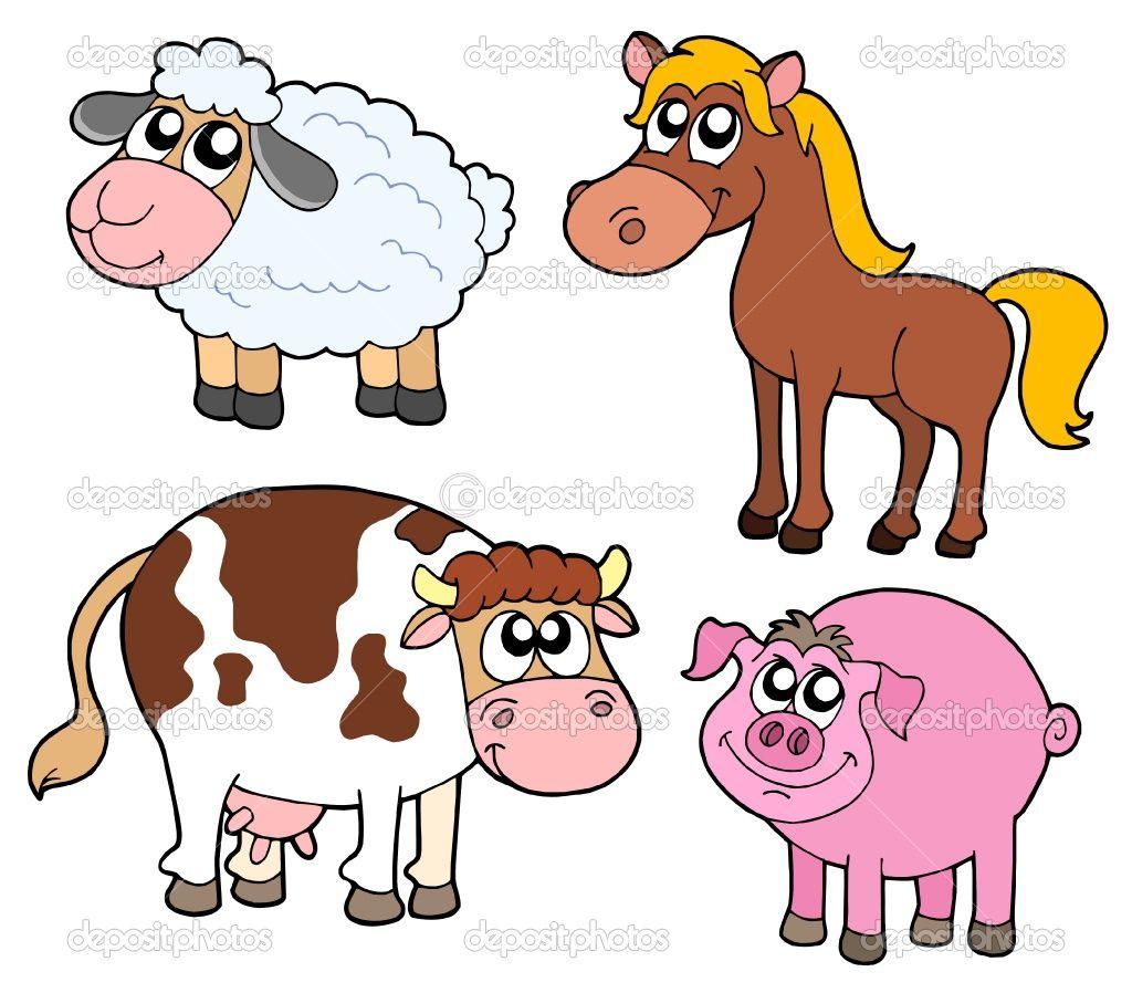 Cartoon Farm Animals Bing Images Jenson room