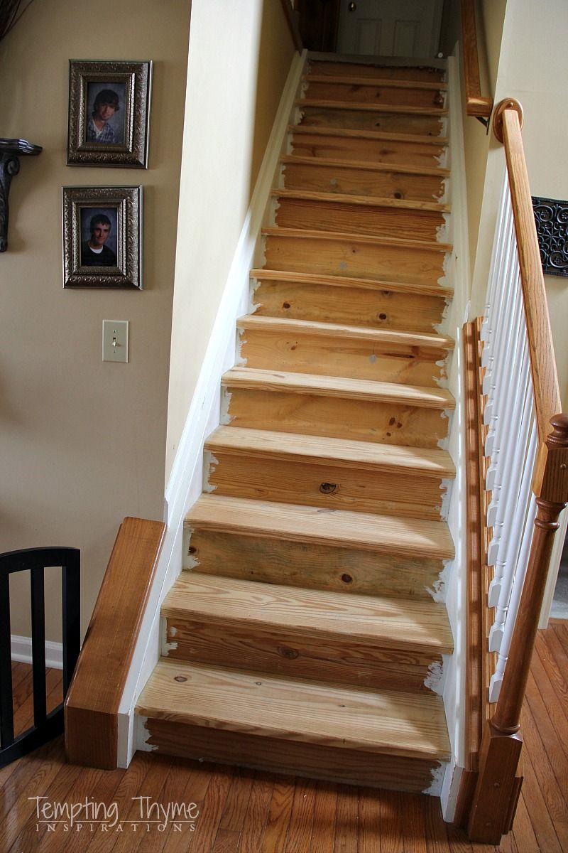 diy how to rip up the carpet and refinish the treads and