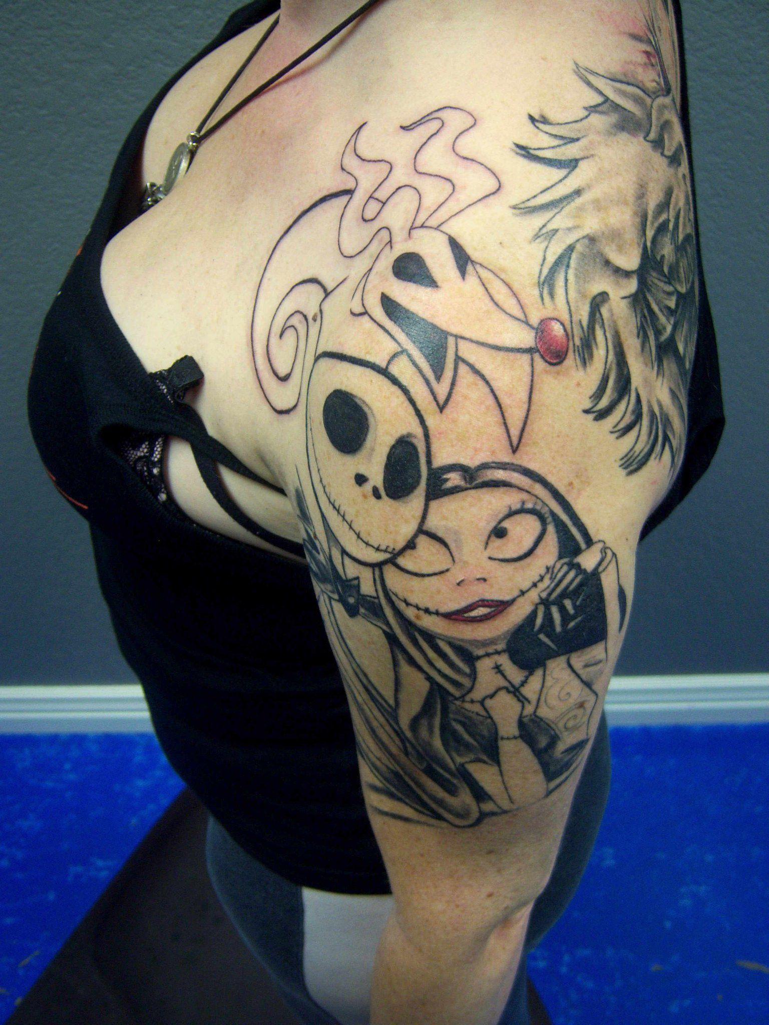 Jack Sally and Zero done by John Hansen love this tattoo