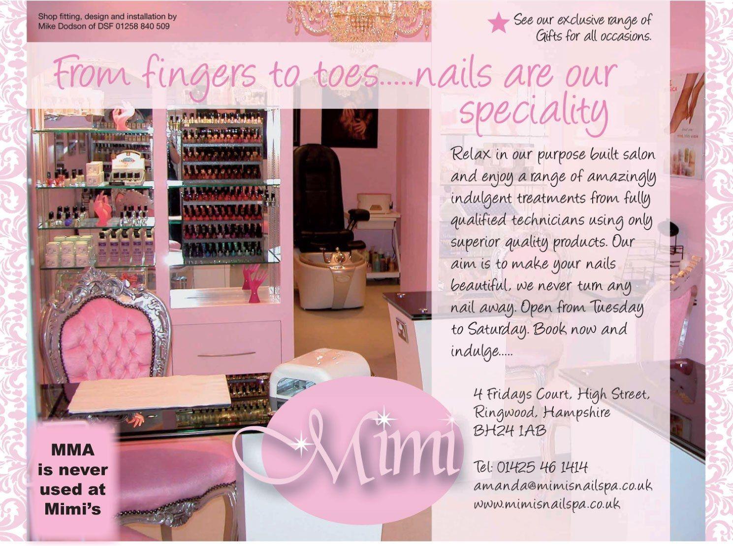 Cute nail salon. Salons Pinterest Nail salons