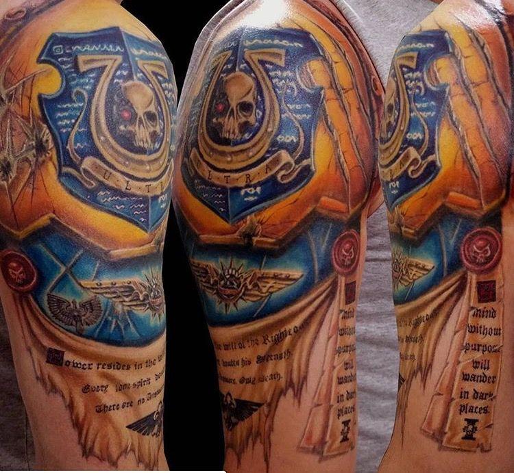 Ultramarines 2nd Company Champion Tattoo Warhammer 40K