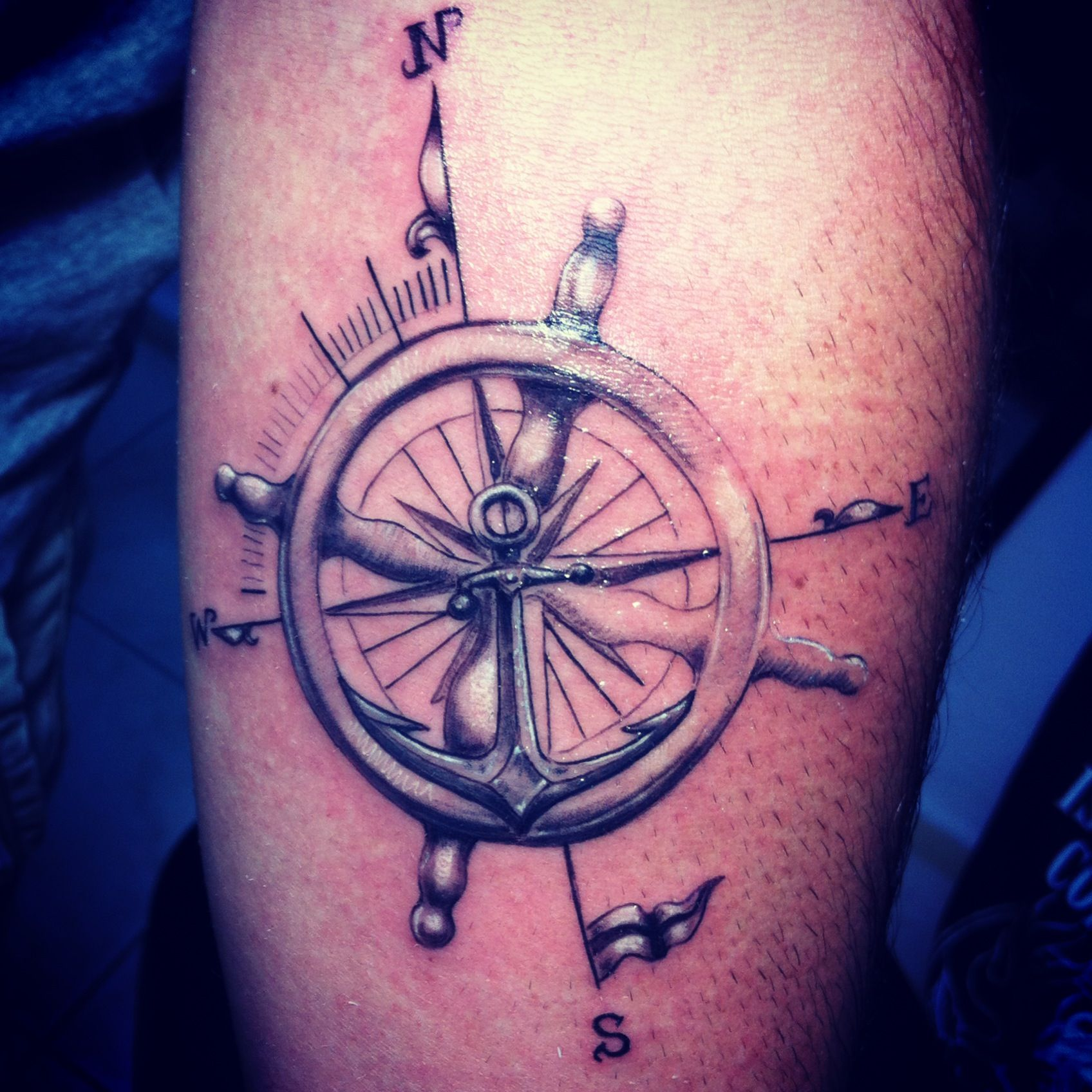 Compas Tattoo Custom Design Dikel's Art Studio Burak Dikel