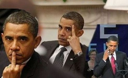 Image result for obama middle finger