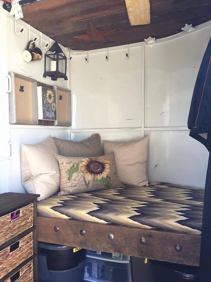 Bumper Pull Bed With Storage Underneath Horsey Things