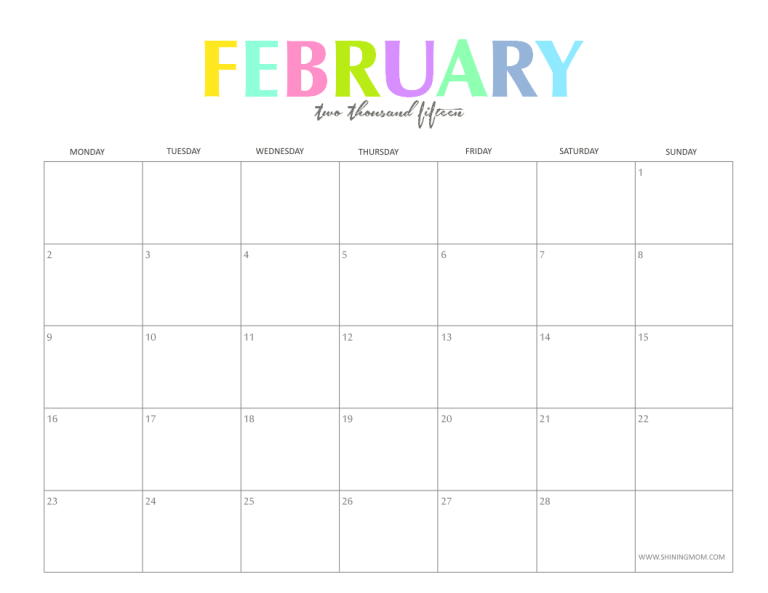1000 images about february 2015 calendar on pinterest 2015