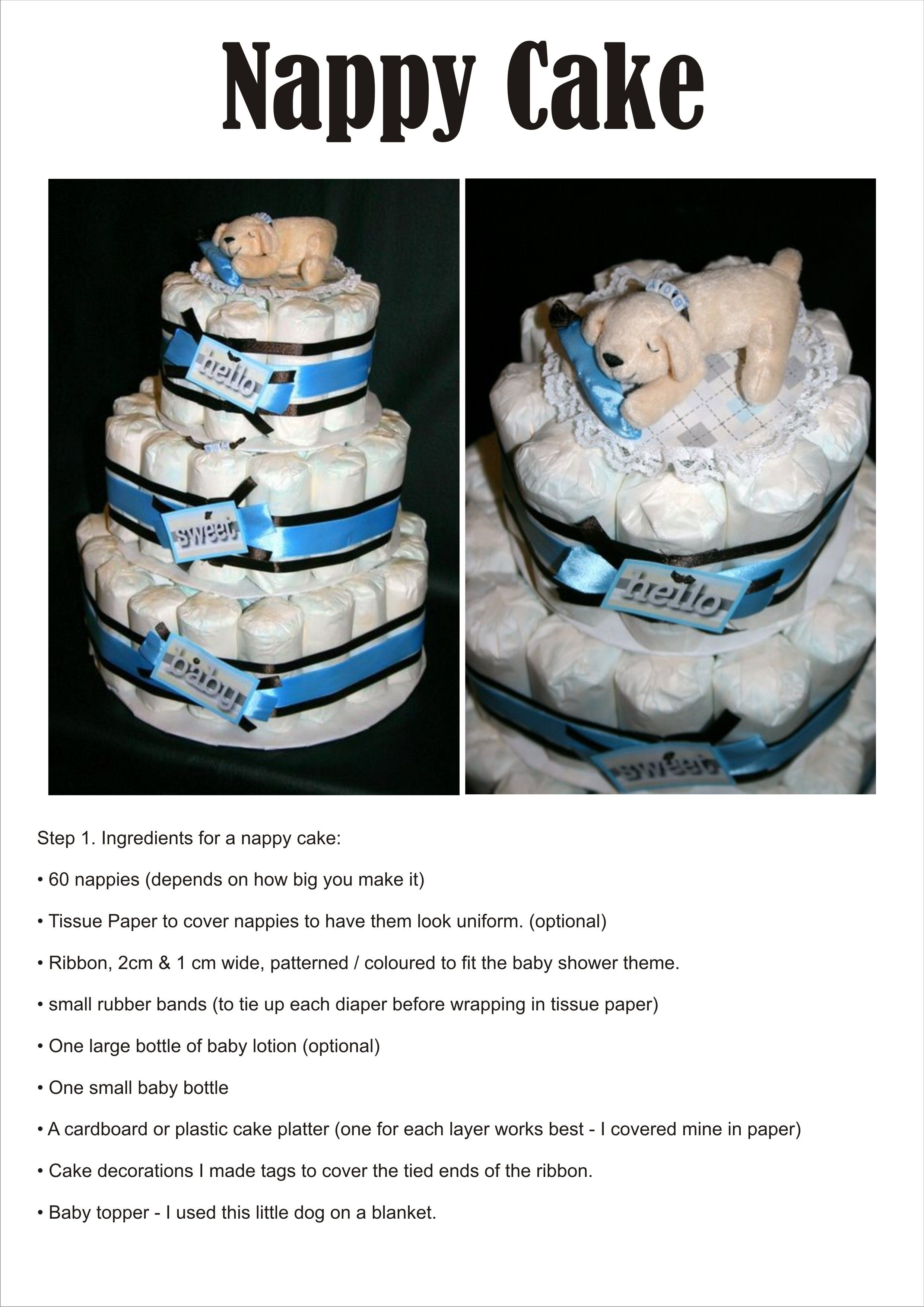 Diaper Cake Nappy Cake Diy Supplies