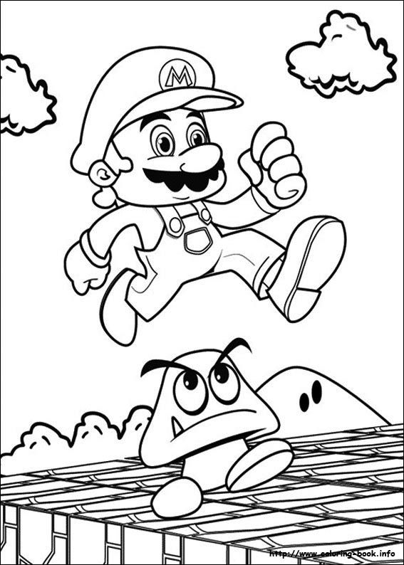 1000 images about mario coloring pages on pinterest super mario
