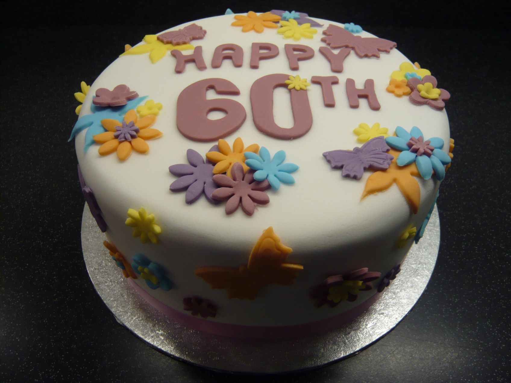 60th Birthday Cakes for Women Happy 60th Birthday Cake for