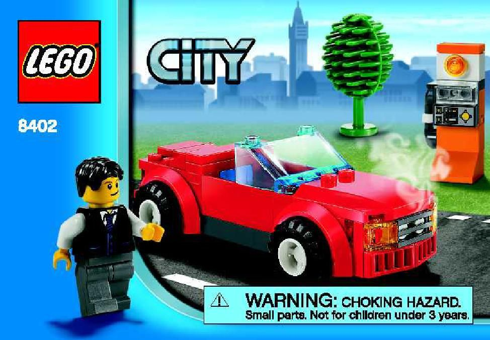 City Sports car [Lego 8402] Lego Sets of Epicness