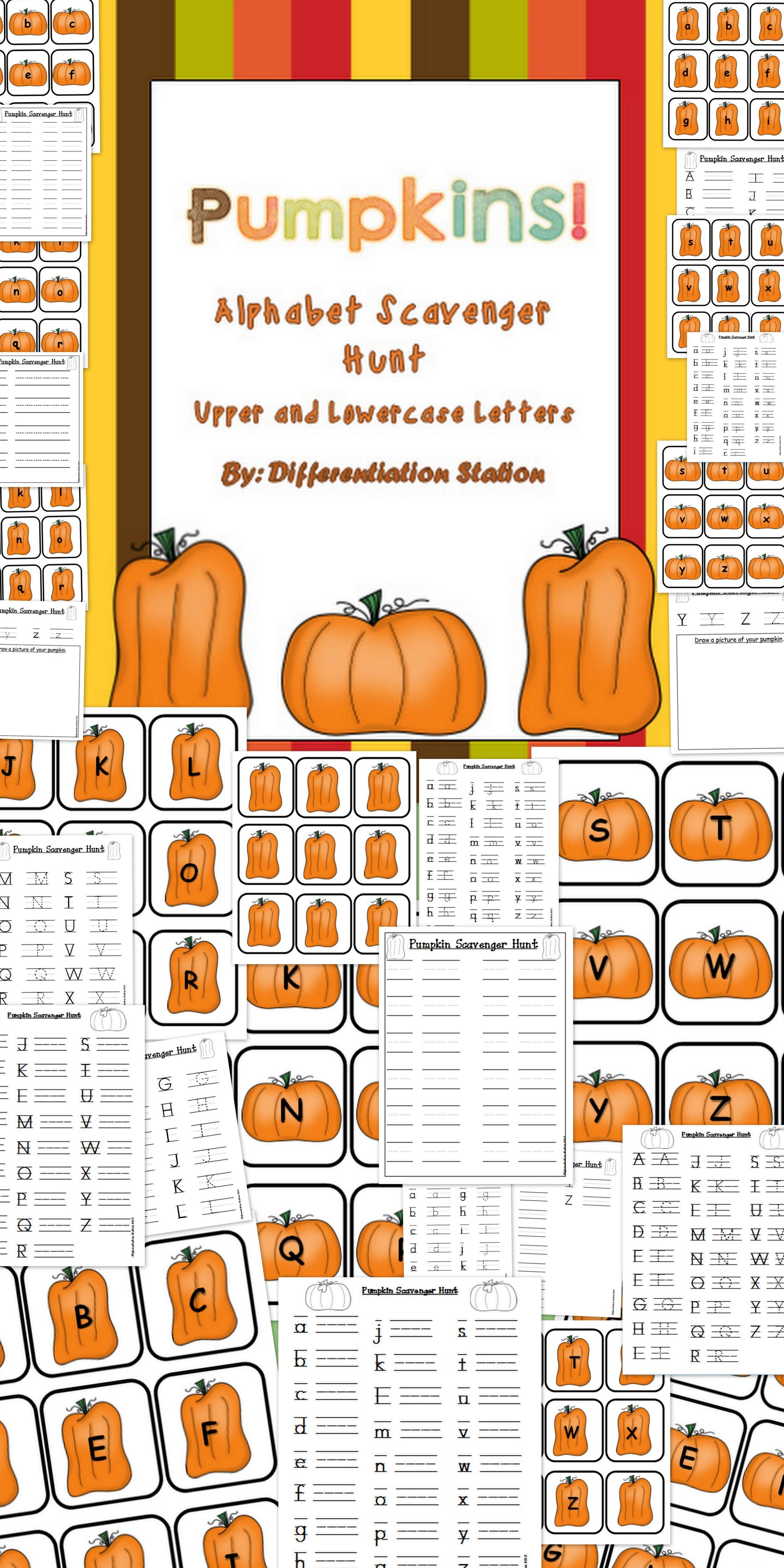 Alphabet Scavenger Hunt Pumpkins
