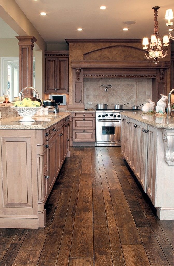 30 Stunning Kitchen Designs Smooth face, Oak hardwood