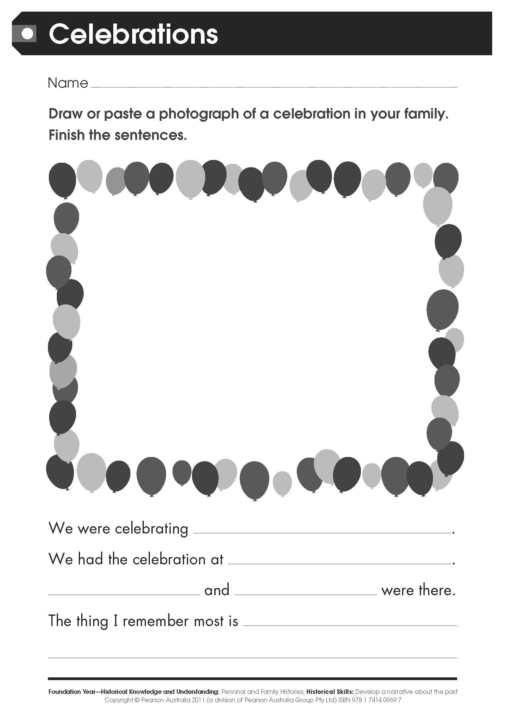 Free Worksheet Celebrations For Lower Primary Students This Worksheet Has Been Taken From