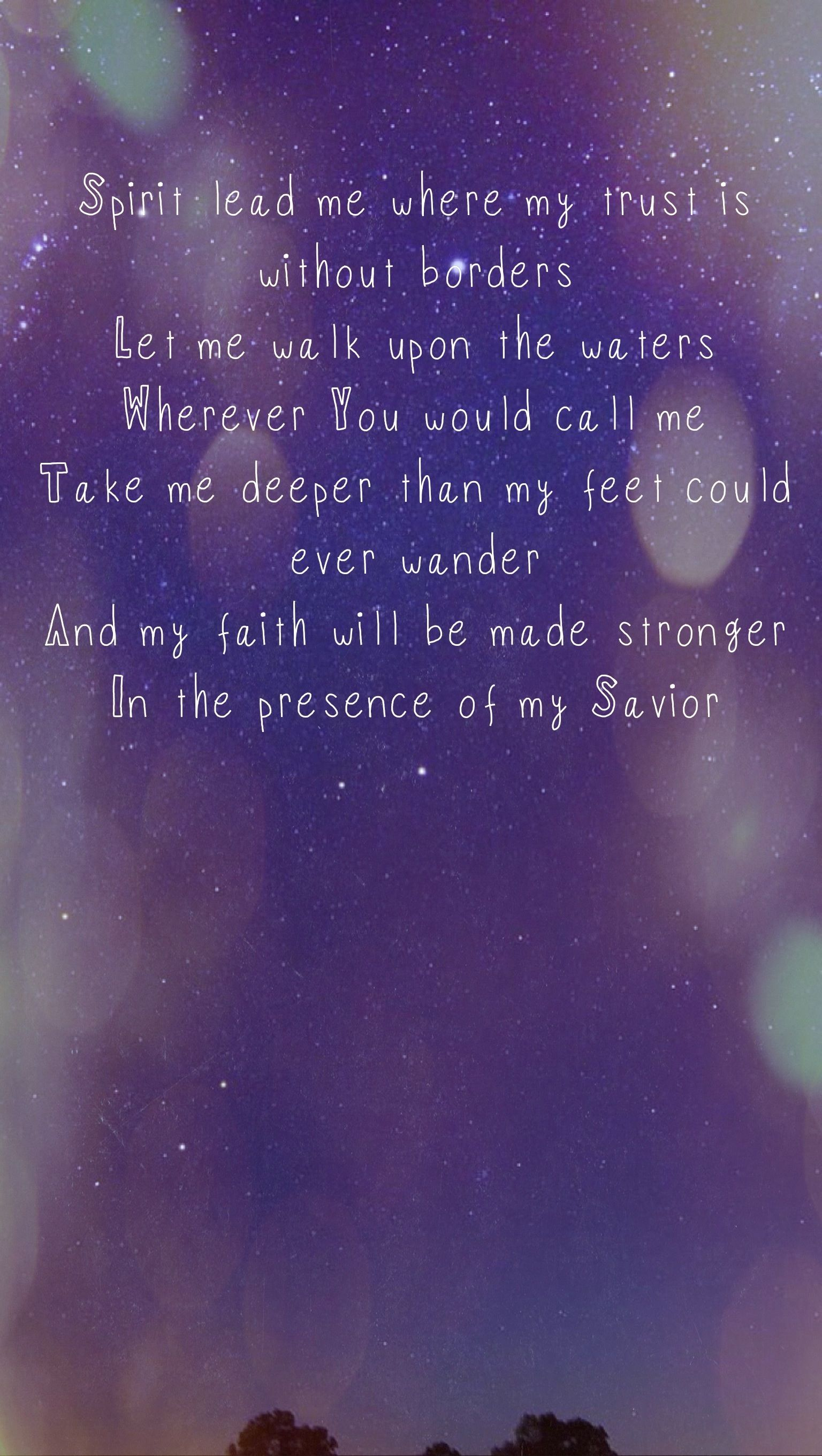 Oceans by Hillsong Inspirational quotes Pinterest
