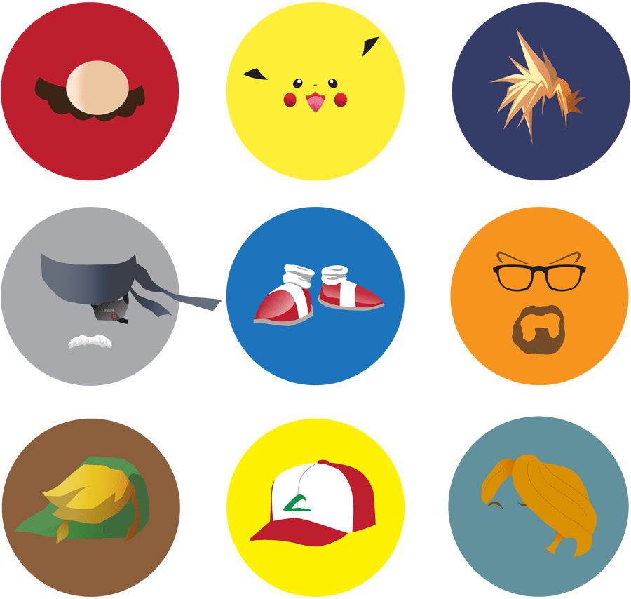Video Game Icons by theblastedfrench,semiotics DD1000