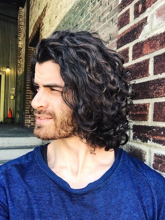 long curly hair for men / long curly hair men / rizos