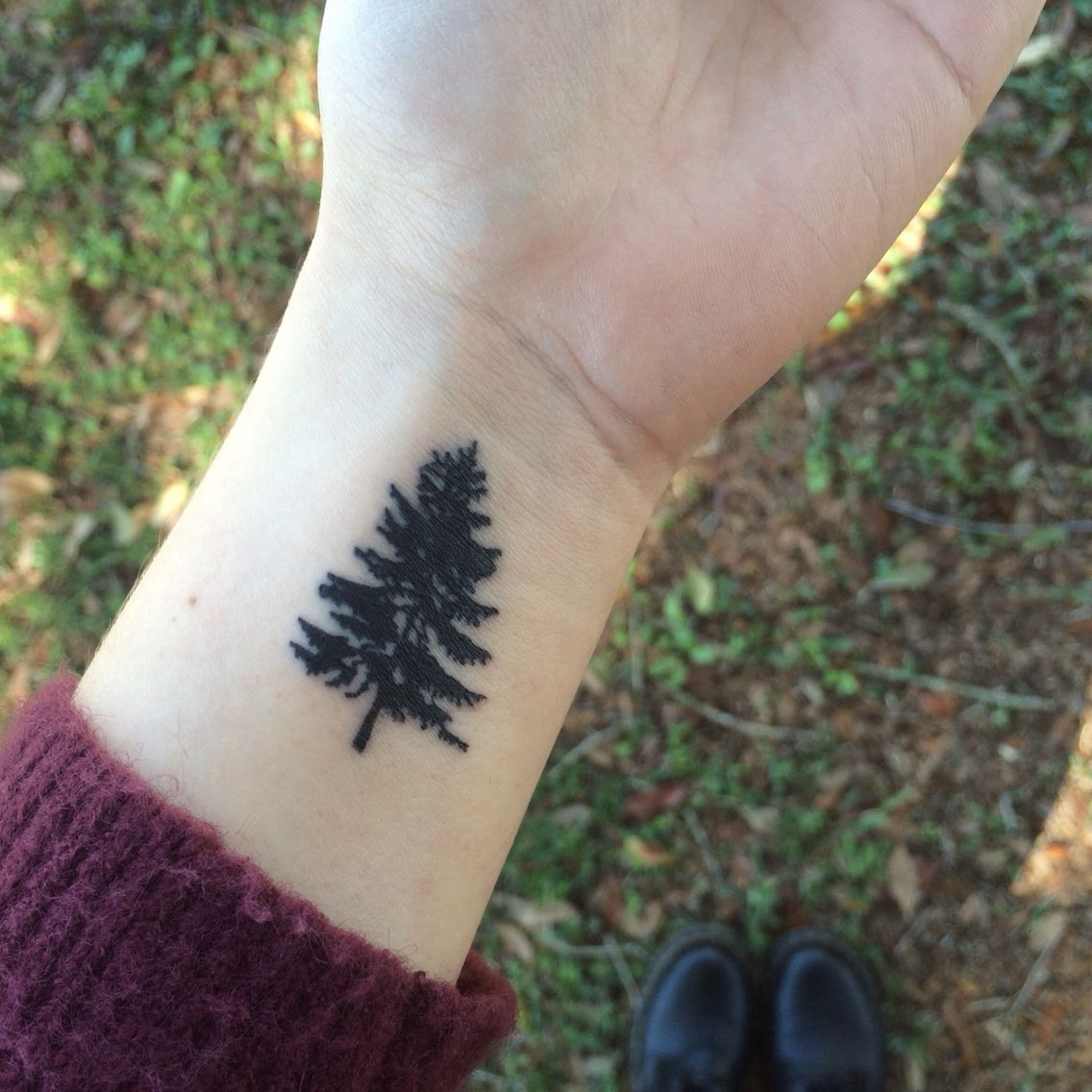 my small pine tree tattoo … Pinteres…