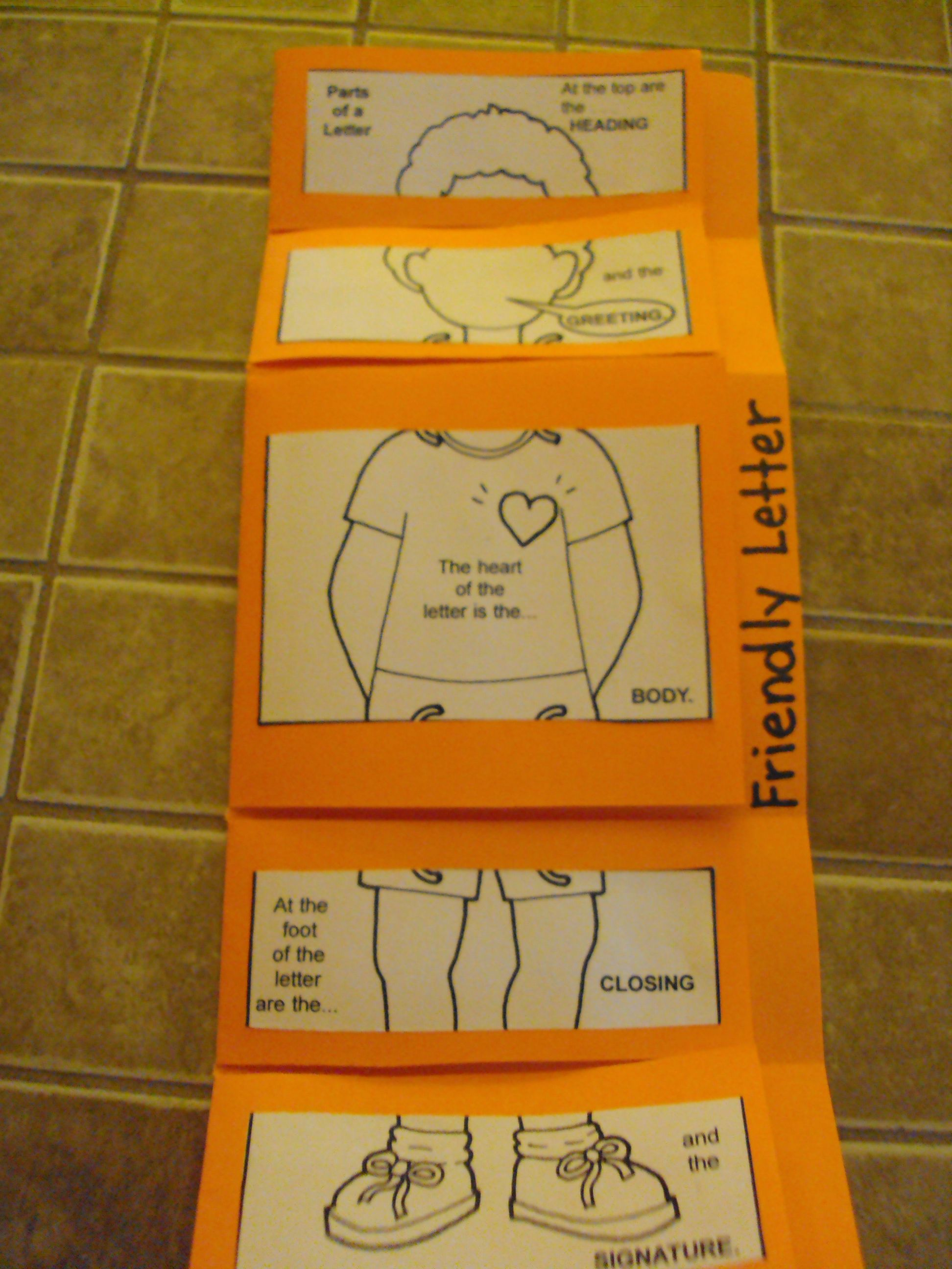 Modified 3 tab foldable to show the body of the friendly