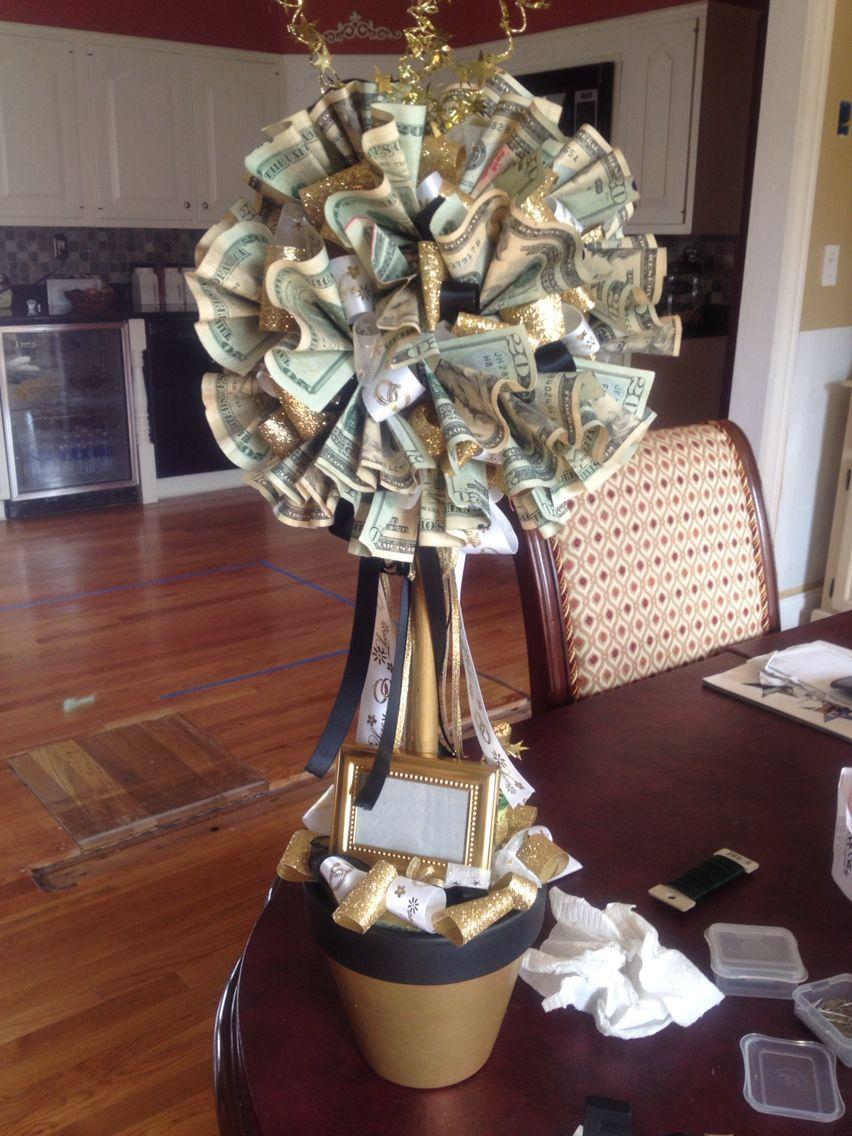 50th wedding anniversary money tree topiary topiary