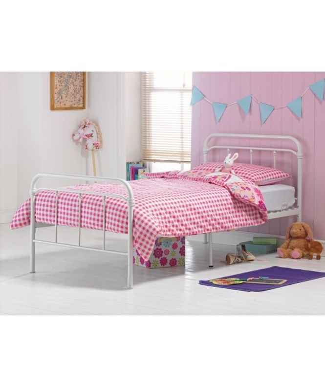 Benji Hospital White Single Bed Frame With Bibby Mattress At Argos Co Uk