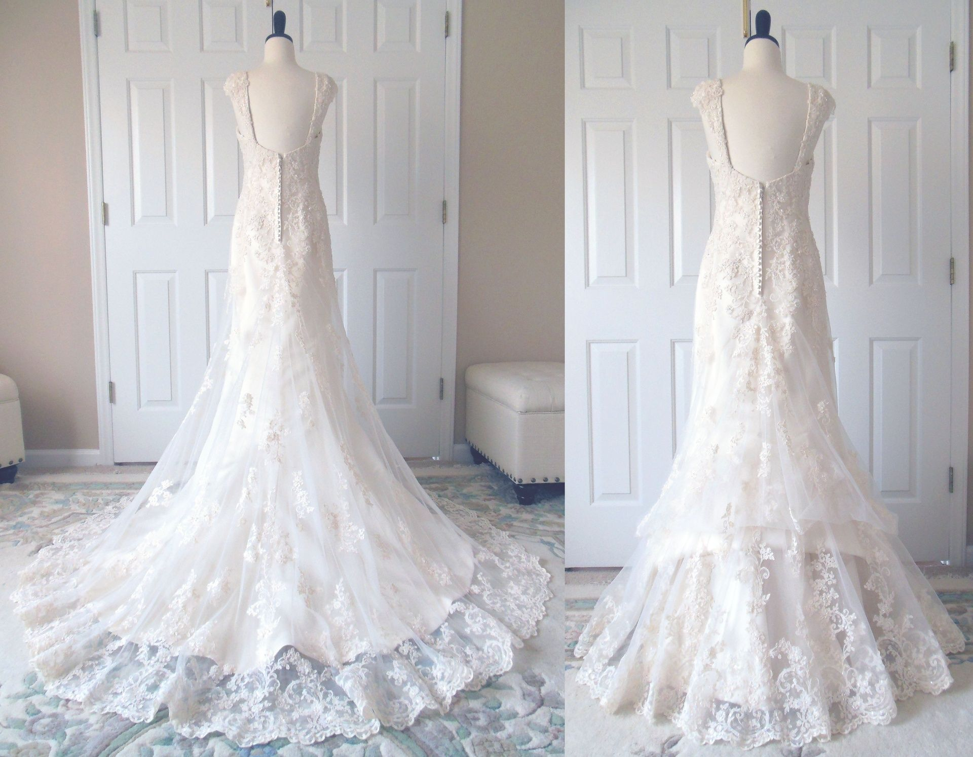 Show me your bustle for lace dresses! Weddingbee