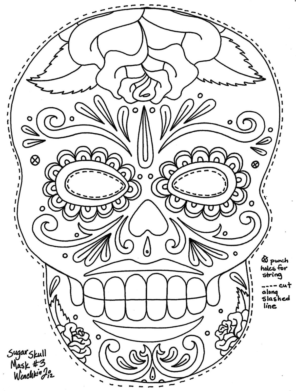 Day Of The Dead Owl Coloring Pages