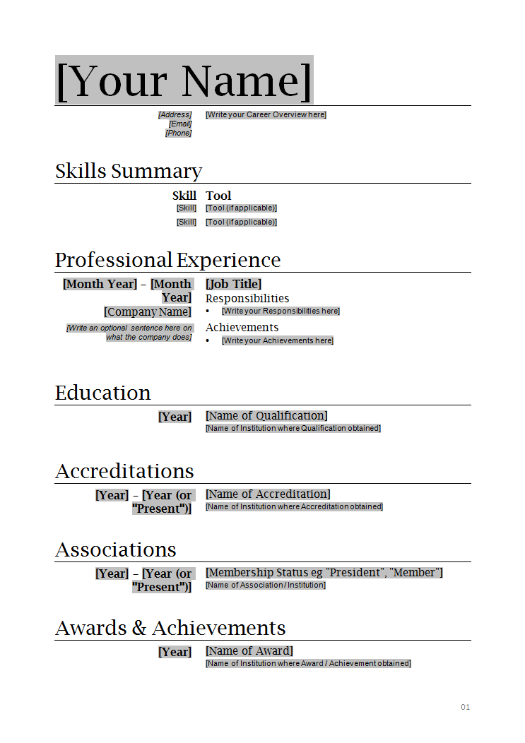 Simple Resume Examples For Free. Face To Face Communication Entry