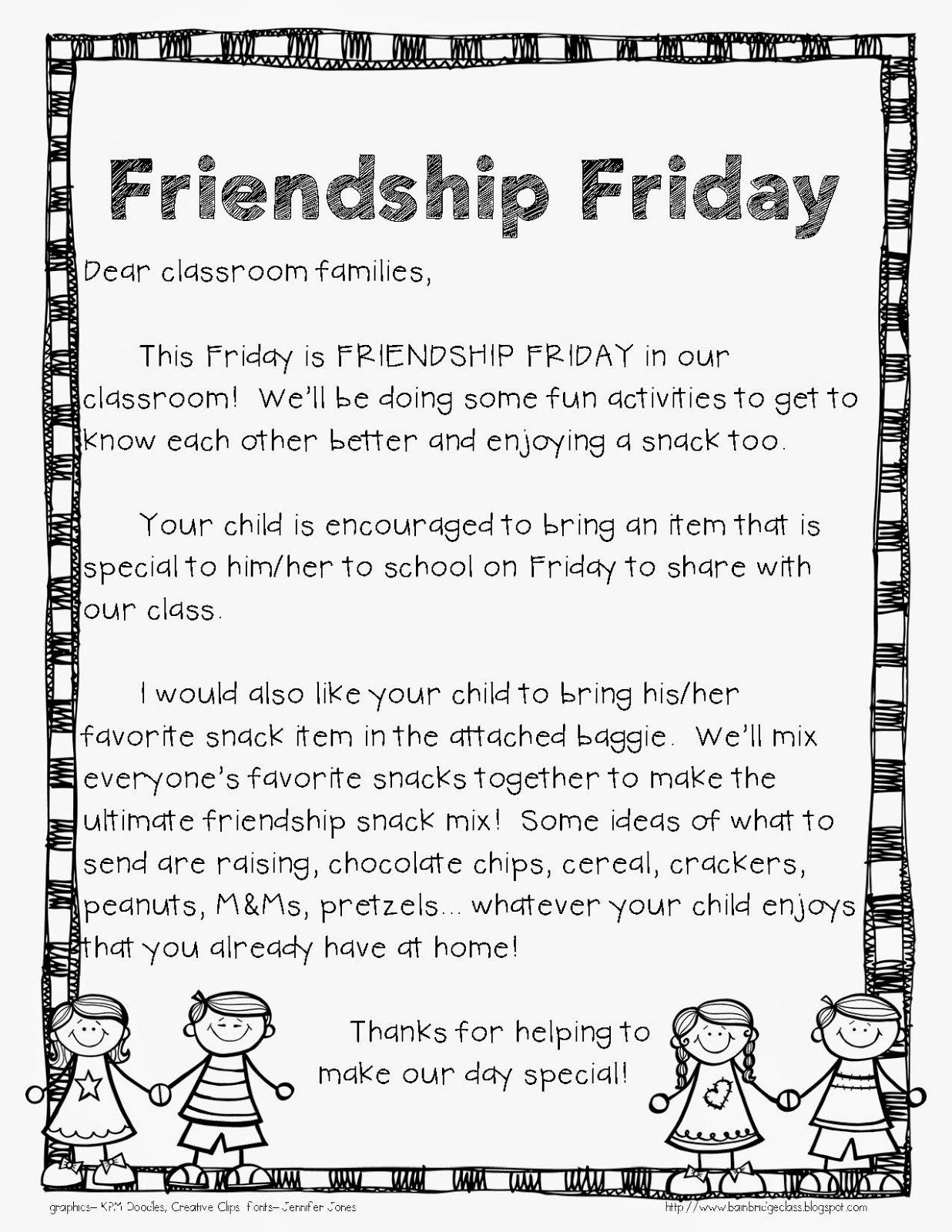 Bunting Books And Bright Ideas Friendship Friday Fun Idea Amp Freebie