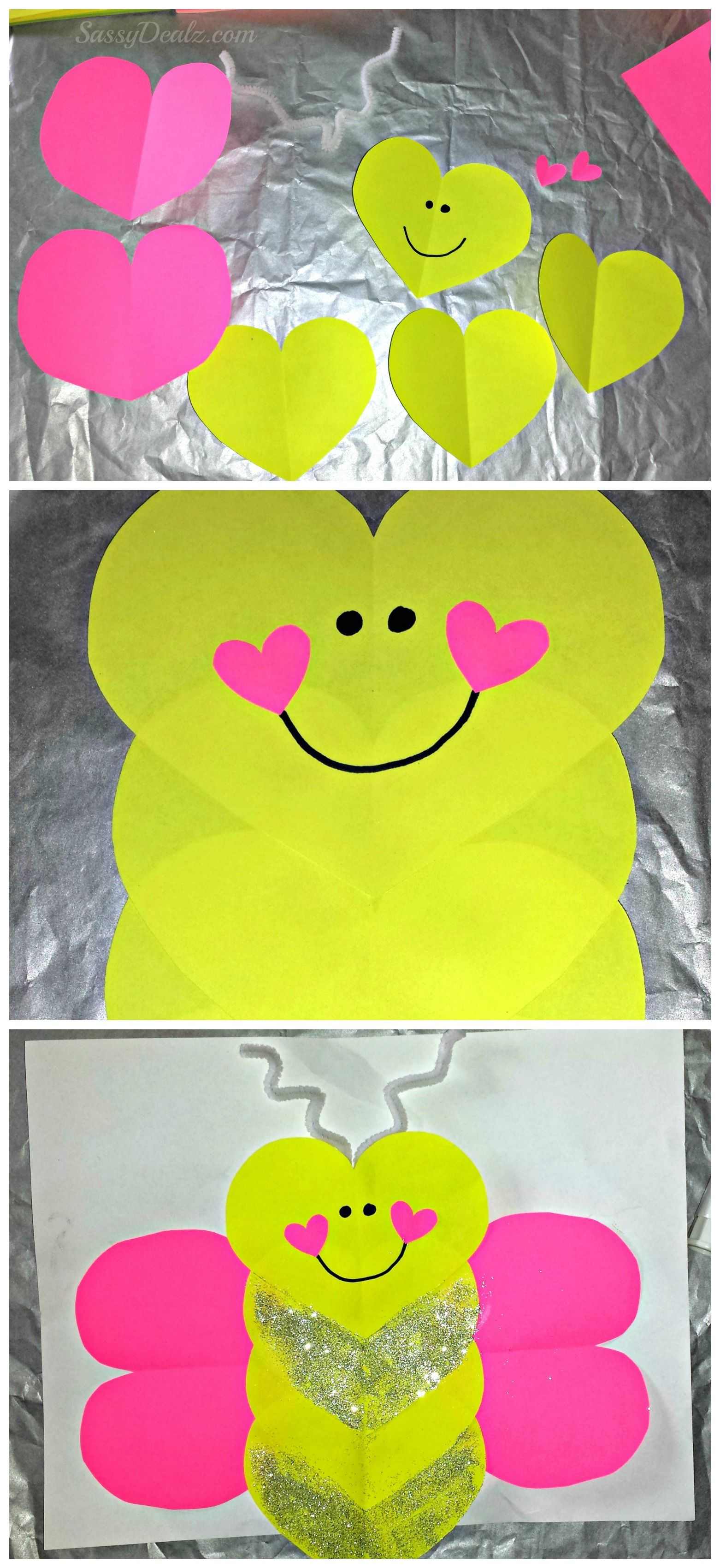 Butterfly Love Bug Valentine S Day Craft For Kids