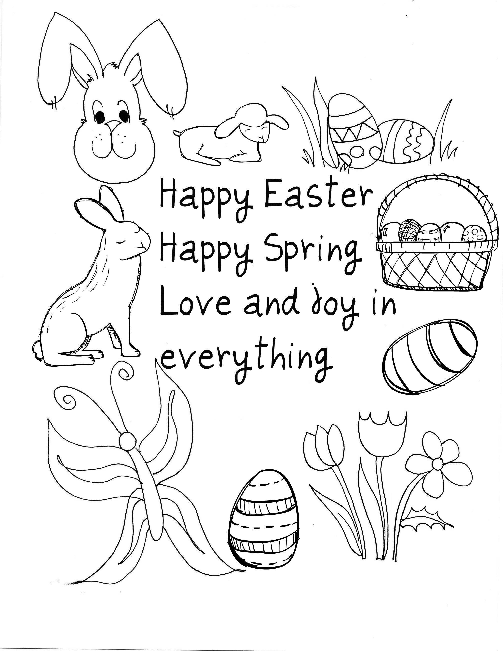 10 Easter Printable Cards To Color I Just Clicked On The