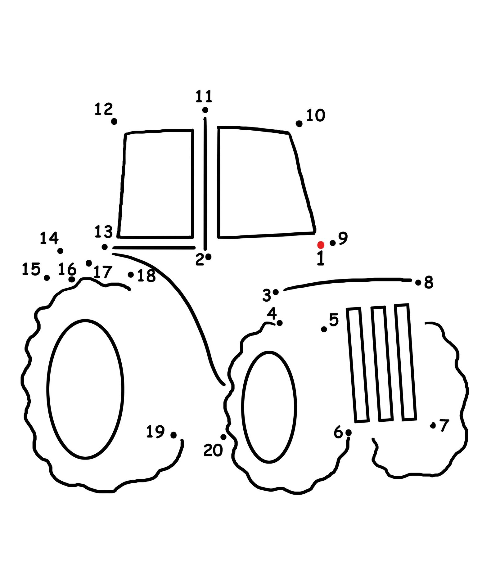 Farm Theme Connect The Dots Tractor And Song From Kiboomu