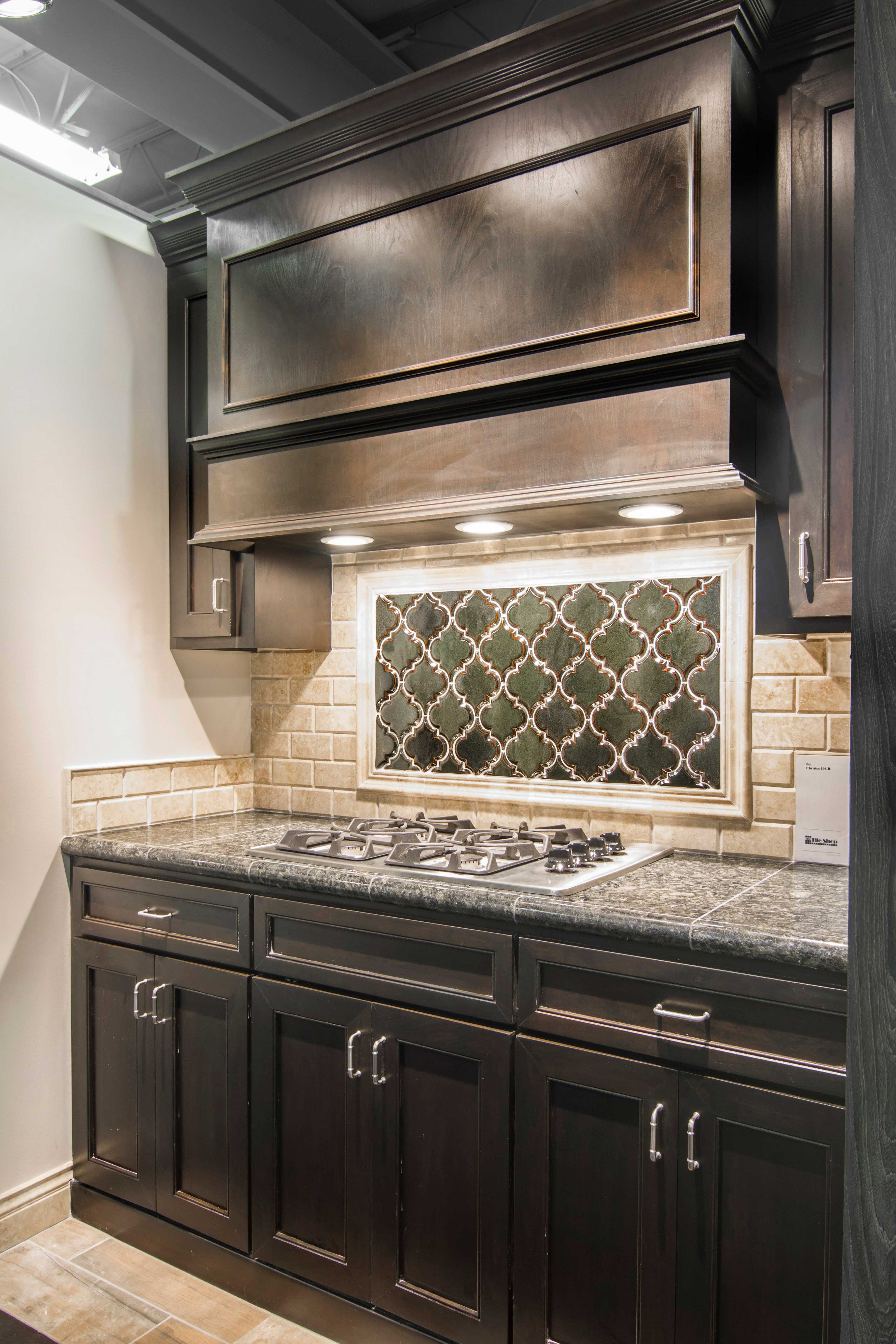 Arabesque design kitchen backsplash tile Artisan