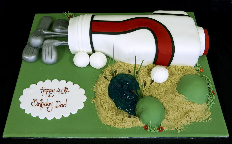 Golf Themed Birthday Cake And Cupcake Decorating Ideas